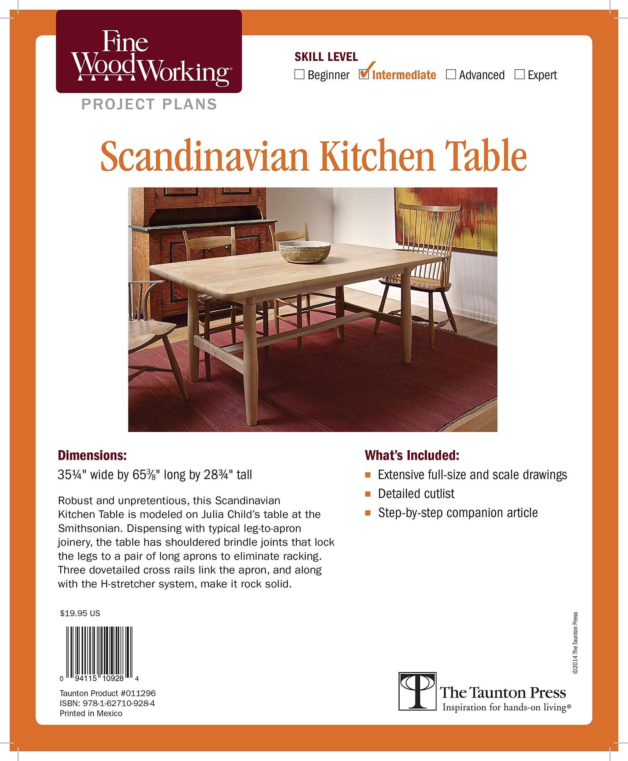 Fine Woodworking\'s Scandinavian Kitchen Table Plan (Fine ...