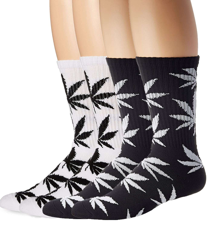 American Trends Men's Marijuana Weed Leaf Cotton High Socks ATACAS0183S333P