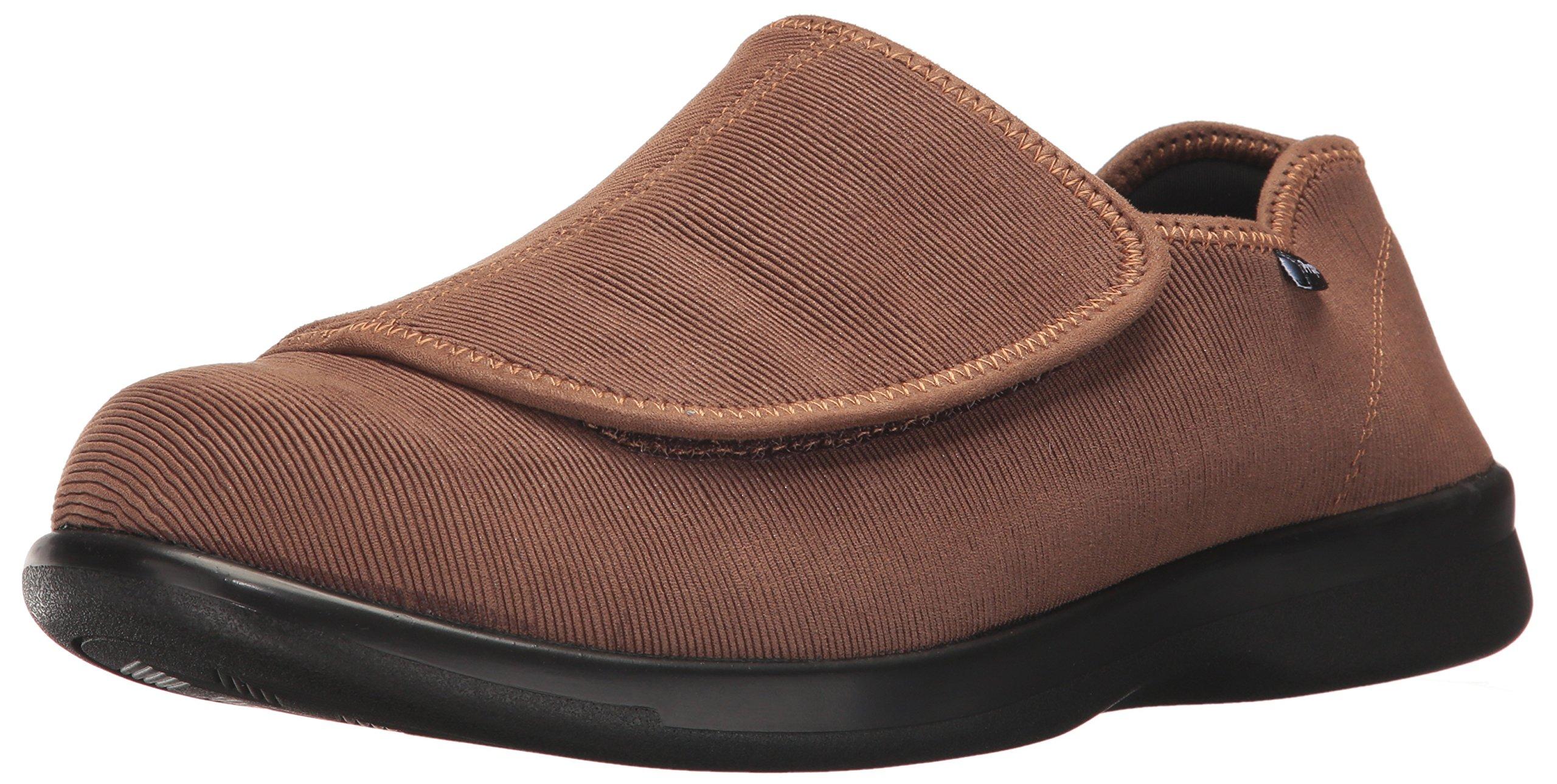 Propet Men's Cush N Foot Slipper, Sand Corduroy, 11.5 Medium US