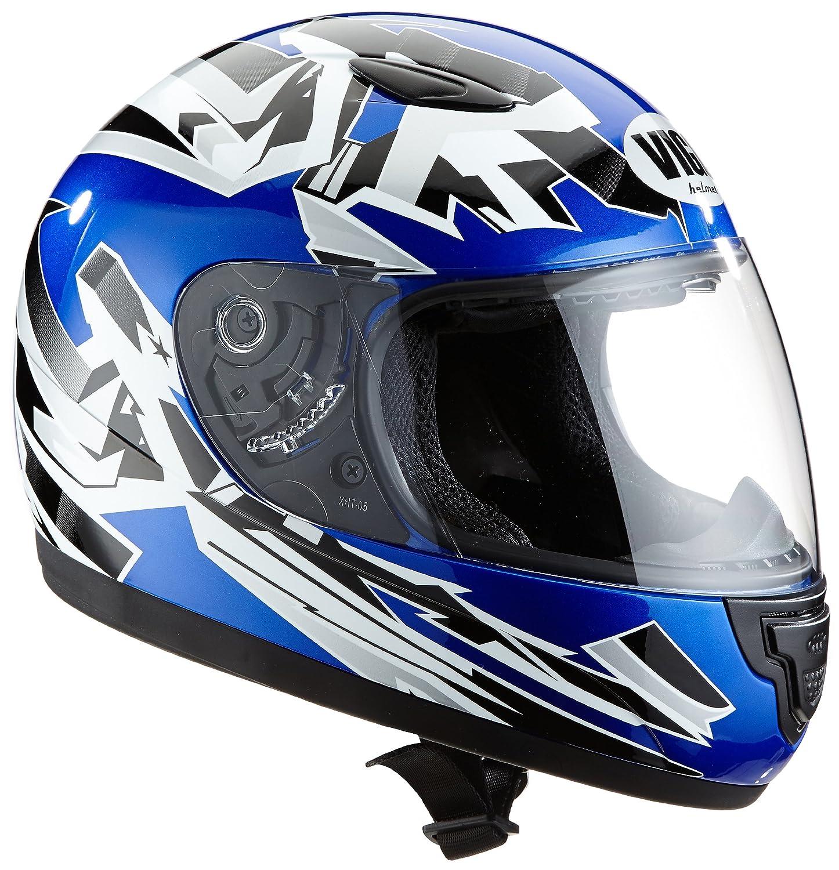 Protectwear SA03-BL-XS Kinder Motorradhelm, Integralhelm, Grö ß e XS (YL 52-53cm), Blau/Weiß