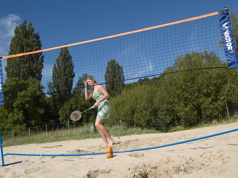 Angker Badminton Net for Indoor or Outdoor Sports Garden Schoolyard Backyard Nylon Braided Mesh in Red