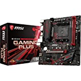 MSI Performance Gaming AMD Ryzen 1st and 2nd Gen AM4 M.2 USB 3 DDR4 DVI HDMI Micro-ATX Motherboard (B450M Gaming Plus…