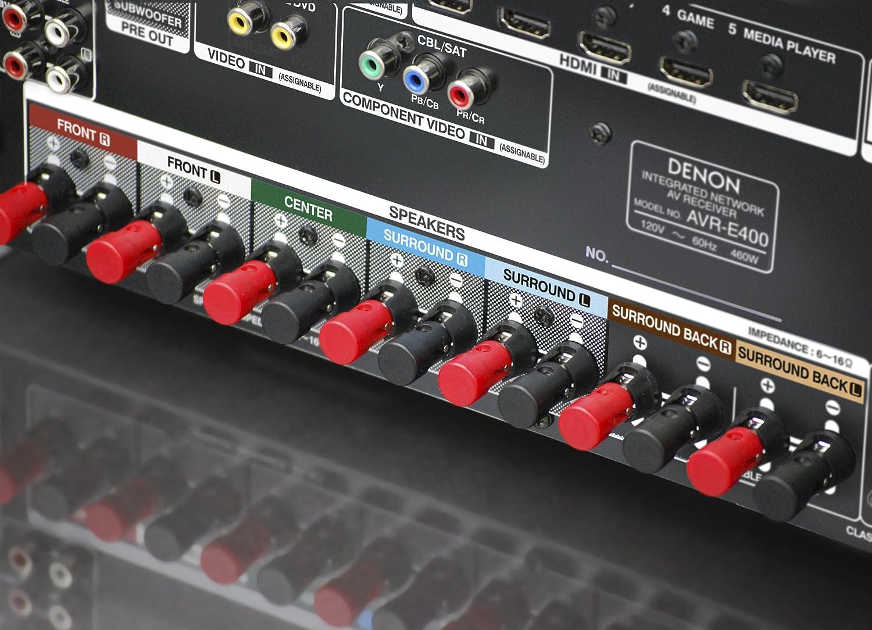Denon AVR-E400 7.1 Integrated Network AV Surround Receiver with ...