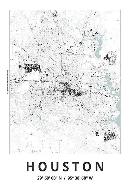 Amazon Com Spitzy S Map Of Houston Texas 12 By 18 Inch City Map
