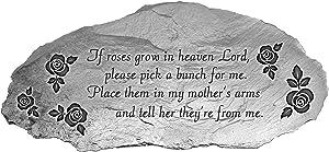 Cathedral Art Roses Memorial Garden Stone, Silver