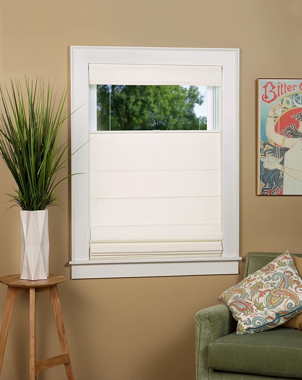 North Country Window Wear Cordless Thermal Backed Top Down Bottom Up Roman Shade 38