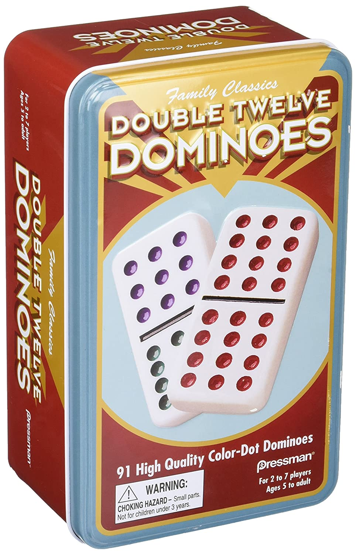 B0007OWJ62 Double 12 Color Dot Dominos in A Tin 91dFN0E1BAL