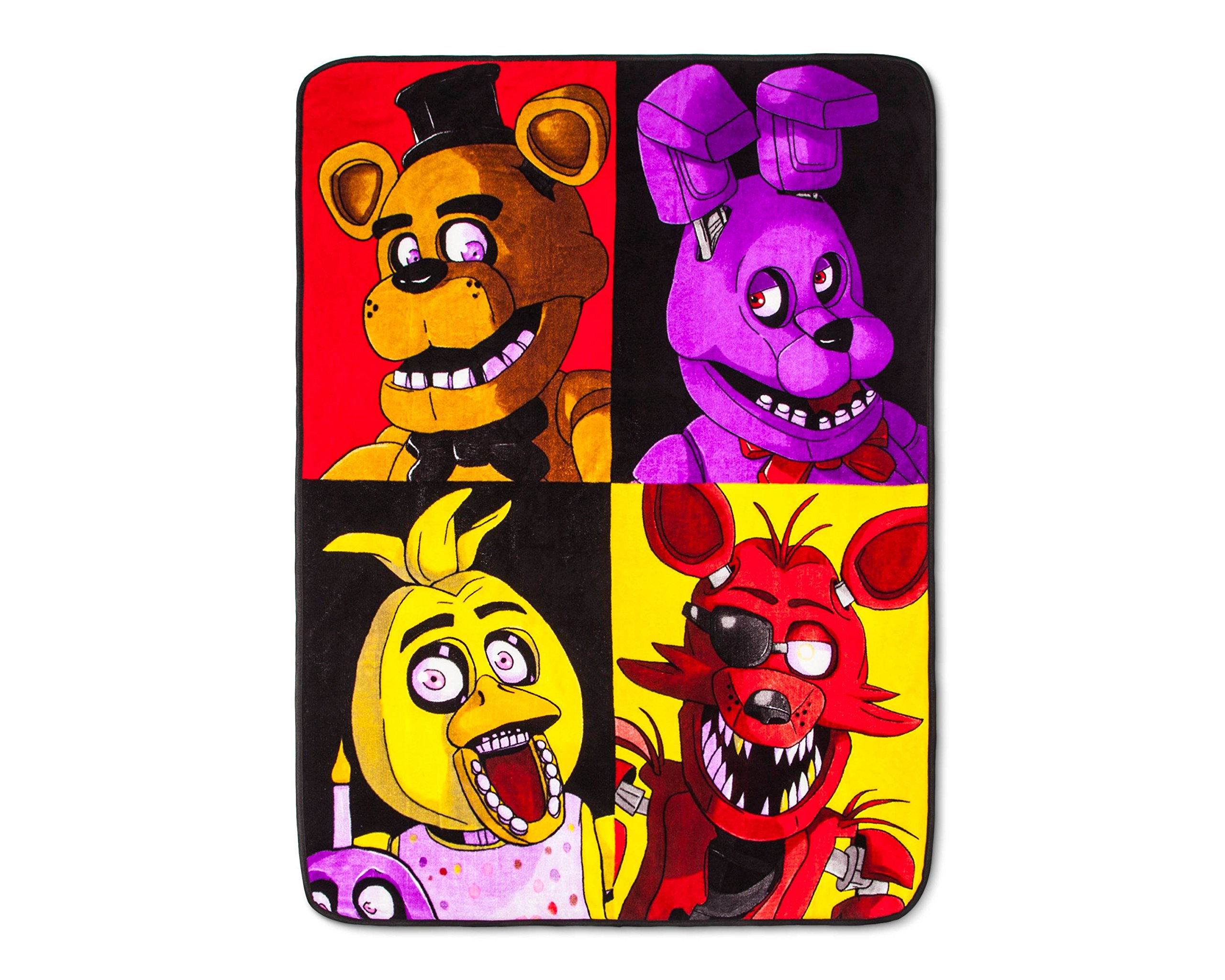 Five Nights at Freddy's Twin Comforter and Sheet Set with Throw