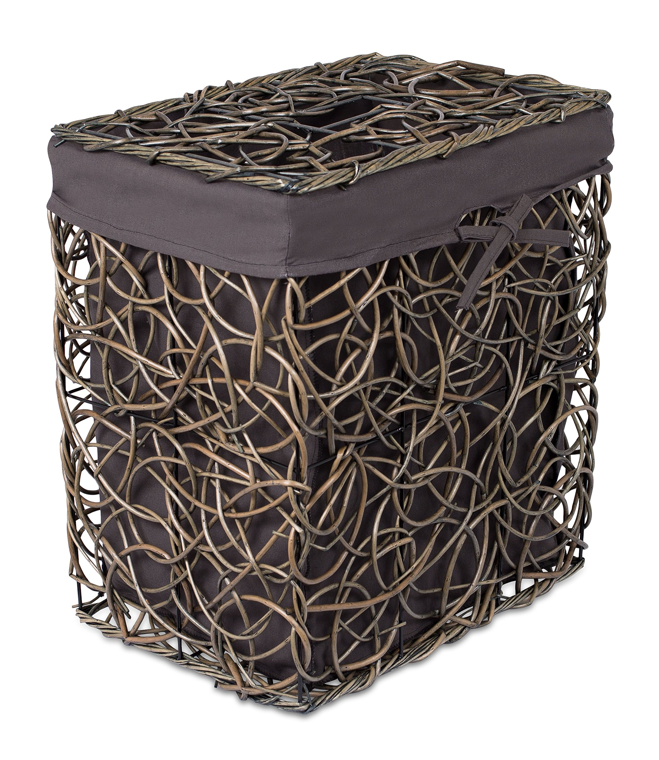 Willow Wicker Storage Basket With Liner For Home: Amazon.com : BirdRock Home Decorative Willow Basket Set