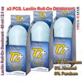 Pack of 3 Lavilin Deodorant Roll-On (Blue)
