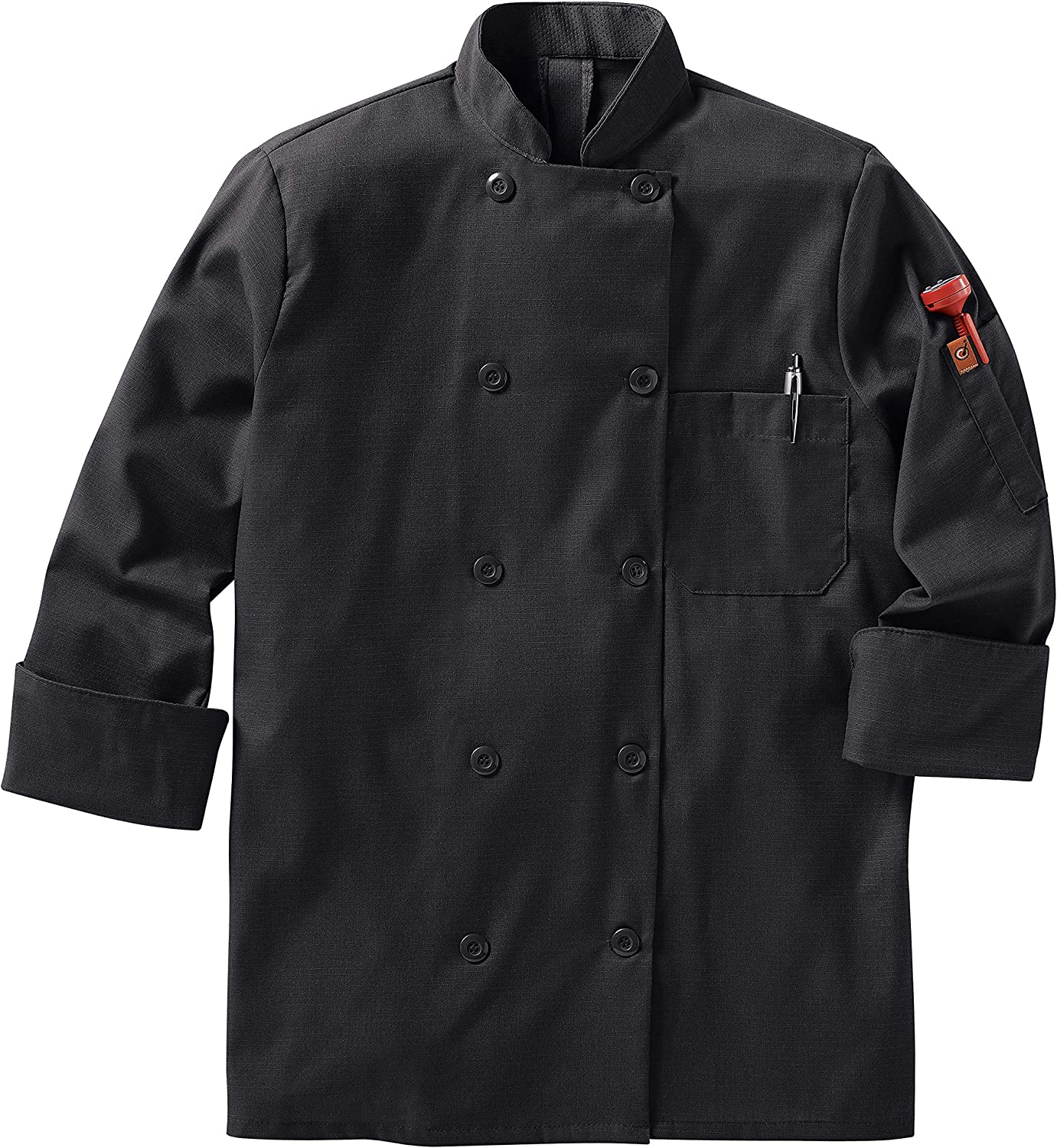 Red Kap womens Long Sleeve Ten Button Chef Coat With Mimix and Oilblok Chef Coat