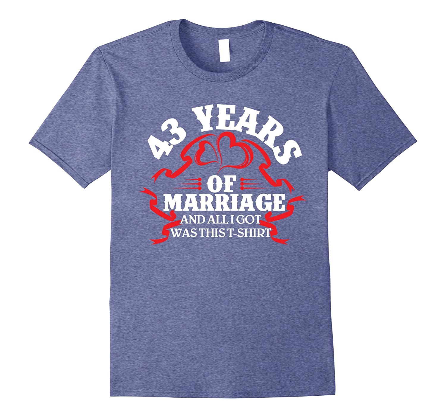 43rd Wedding Anniversary Gifts: Cool T-Shirt 43rd Wedding Anniversary Gifts For HerHim-PL