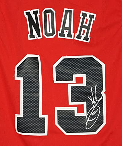 f133e0c90 Joakim Noah Chicago Bulls Signed Autographed Red  13 Jersey at Amazon s  Sports Collectibles Store