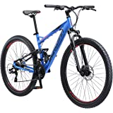 "Schwinn Men's Protocol 2.7 Mountain Frame 27.5"" Wheel Bicycle, Matte Blue/Grey, 17""/One Size"