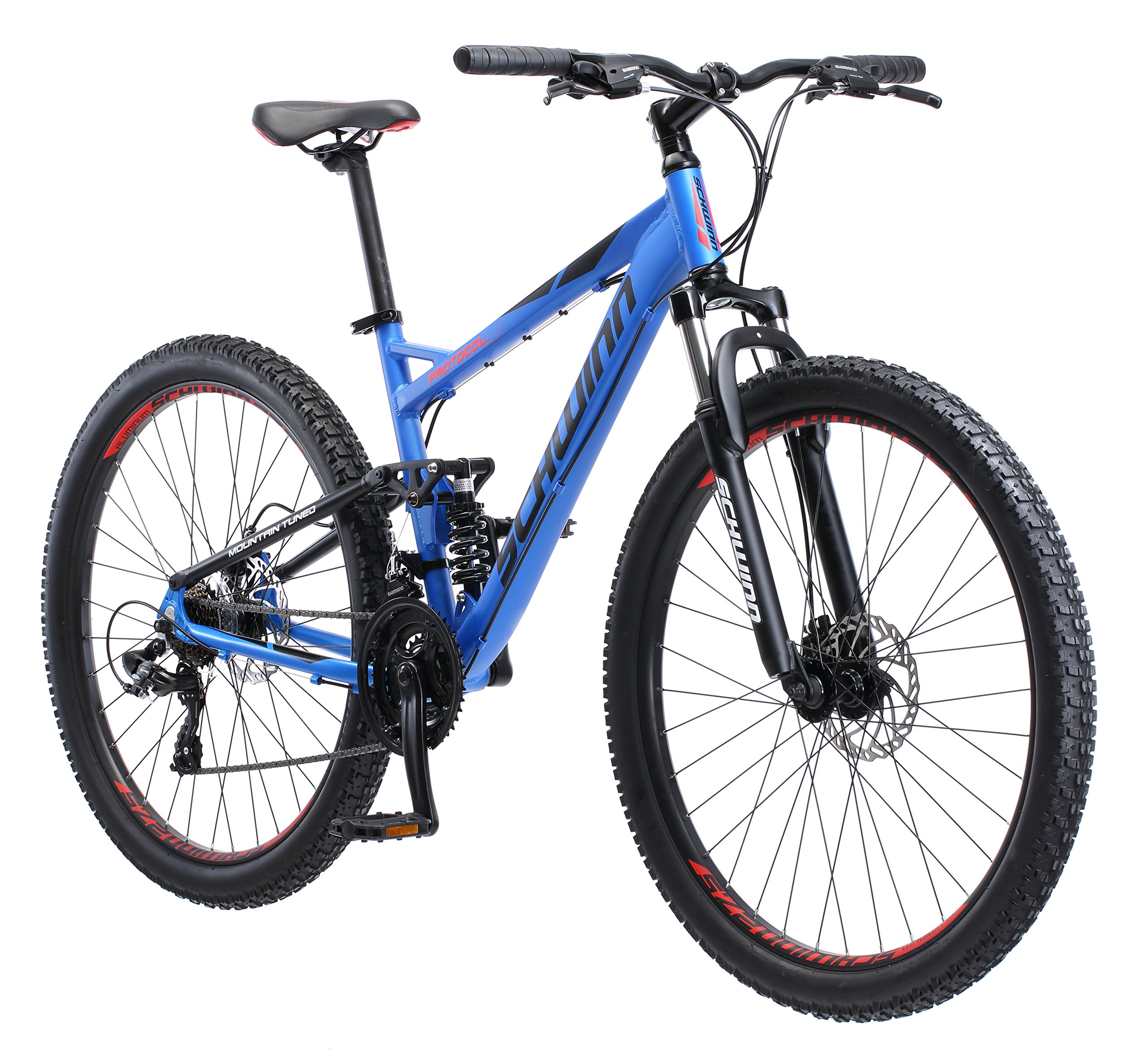 Schwinn Men's Protocol 2.7 Mountain Bike, 27.5'' Wheels, 17'' Frame Size, Matte Blue