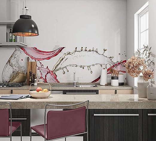 Hochwertige Küchenrückwand Folie Selbstklebefolie Virgin Optik – Moderne  Klebefolie für die Küche in verschiedenen Größen - Selbstklebende  Dekofolie, ...