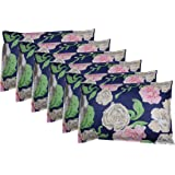 HOME IN Cotton 6-Piece Pillow Covers - 18 inches x 26 inches, Multi-Colored