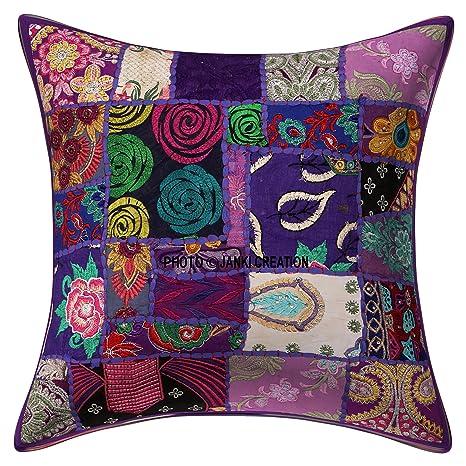 Funda de cojín decorativa para sofá, diseño bohemio indio ...