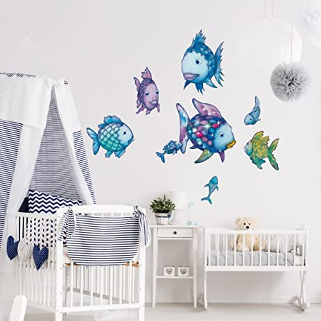 Amazoncom Wall Decal The Rainbow Fish Underwater Paradise - Underwater wall decals