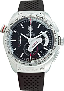 TAG Heuer Men s CAV5115.FT6019 Grand Carrera Automatic Chronograph Black  Dial Watch ba0db6de84