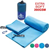 Microfiber Towel - Сamp Towels - Pack Towel - Absorbs 3x its Weight & Dry 3x Quicker than the Average Towel - Antibacterial Towel - Travel Towels - Ideal for Sport & Swimming - Backpacking Towel