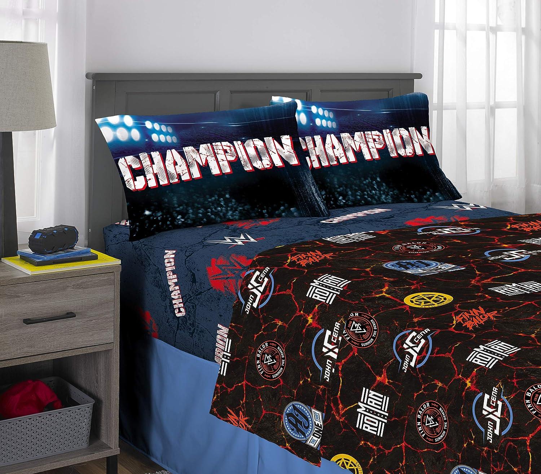 Franco Kids Bedding Soft Microfiber Sheet Set, 4 Piece Full Size, WWE Super Stars