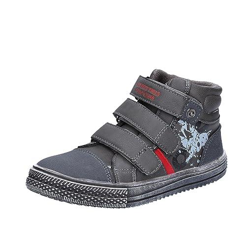 BEVERLY HILLS POLO CLUB Sneakers Niños Cuero Gris 32 EU: Amazon.es ...