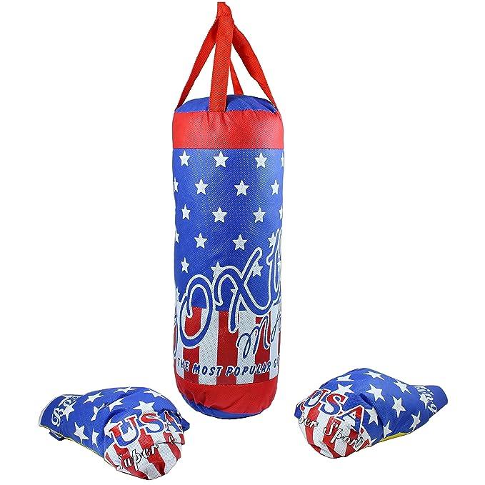 Saco de boxeo y guantes para niños en Estados Unidos Diseño con ...