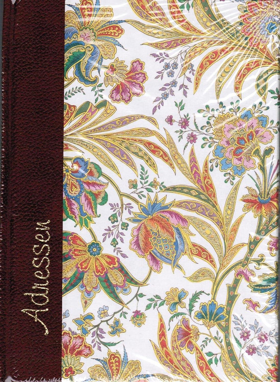 Adressbuch A6 VENEZIANISCHER TRAUM, 112 Seiten, Ledersamt-Rücken mit Goldfolienprägung