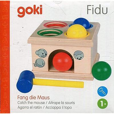 Goki- Puzzles de maderaPuzzles de maderaGOKIFidu, Agarra el ratón, Juego de Golpear, (Gollnest & Kiesel WM914): Juguetes y juegos