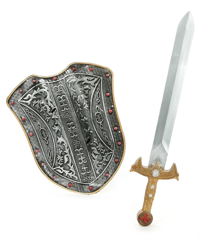 Kit bouclier et épée chevalier médiéval enfant en plastique Generique