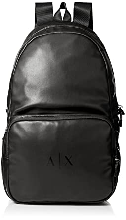 Amazon.com  Armani Exchange Men s Eco-Nappa Backpack, black gun ... d529a4897b