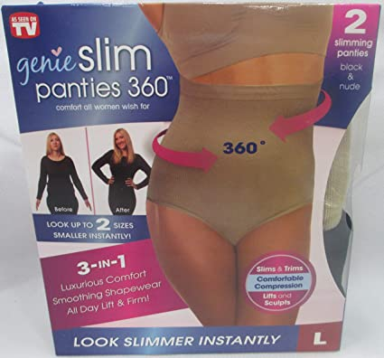 16dbbdff7a916 Image Unavailable. Image not available for. Color  Genie Slim Panties 360  Slimming Panty Underwear ...
