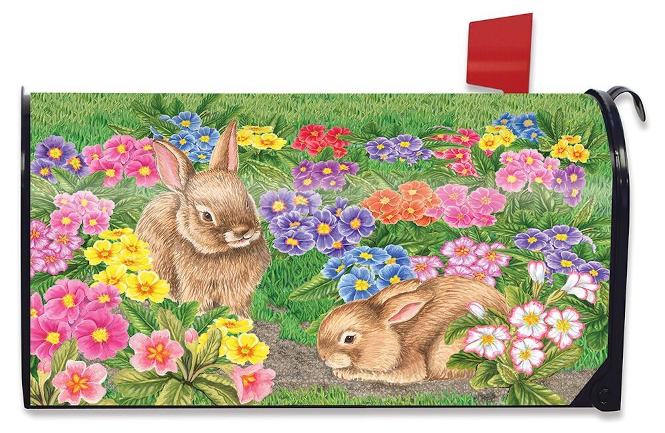 Briarwood Lane Bunny Friends Easter Mailbox Cover Spring Floral Standard
