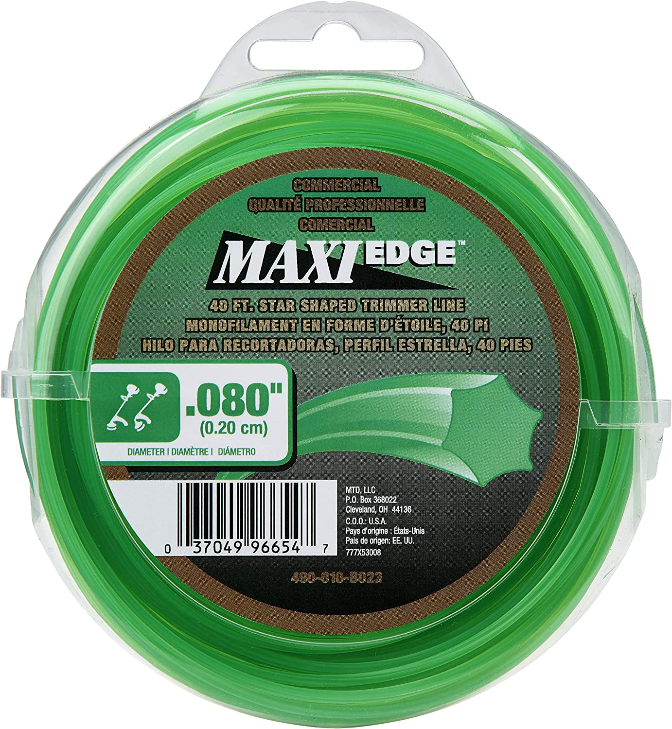 MTD Genuine Parts 490-010-B023 Commercial Maxi-Edge 40 .080 in Universal Trimmer Line