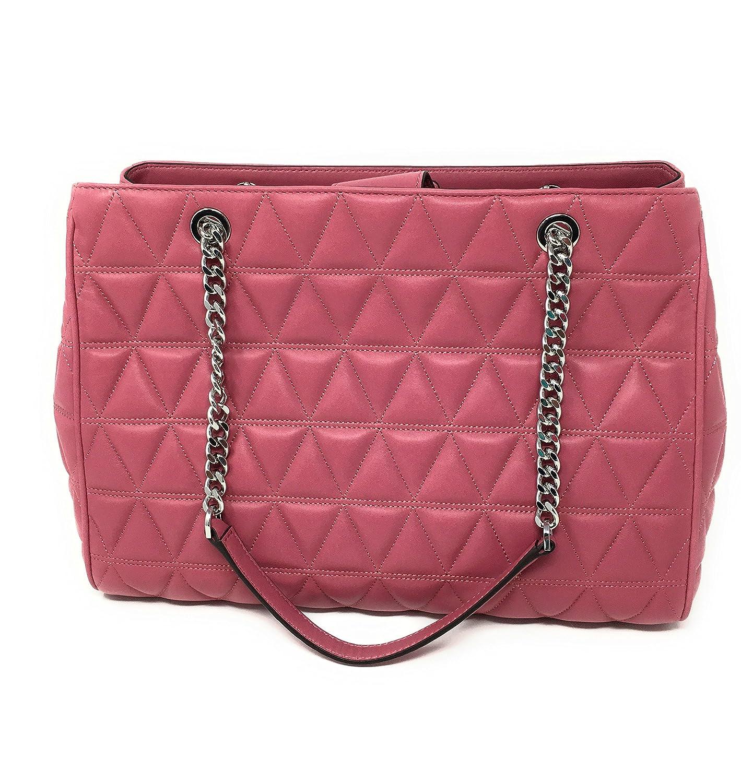 3d72fe2f35cd18 MICHAEL KORS VIVIANNE LARGE Quilted Leather Tote Shoulder Bag Tulip:  Handbags: Amazon.com