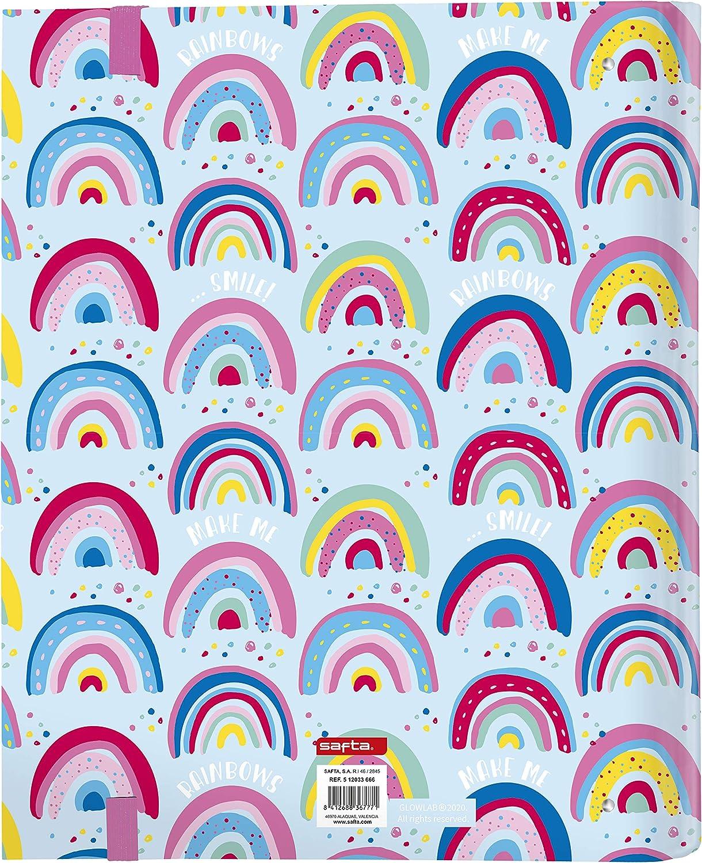 Carpeta 4 Anillas de 30mm de Glowlab con 100 Hojas A4