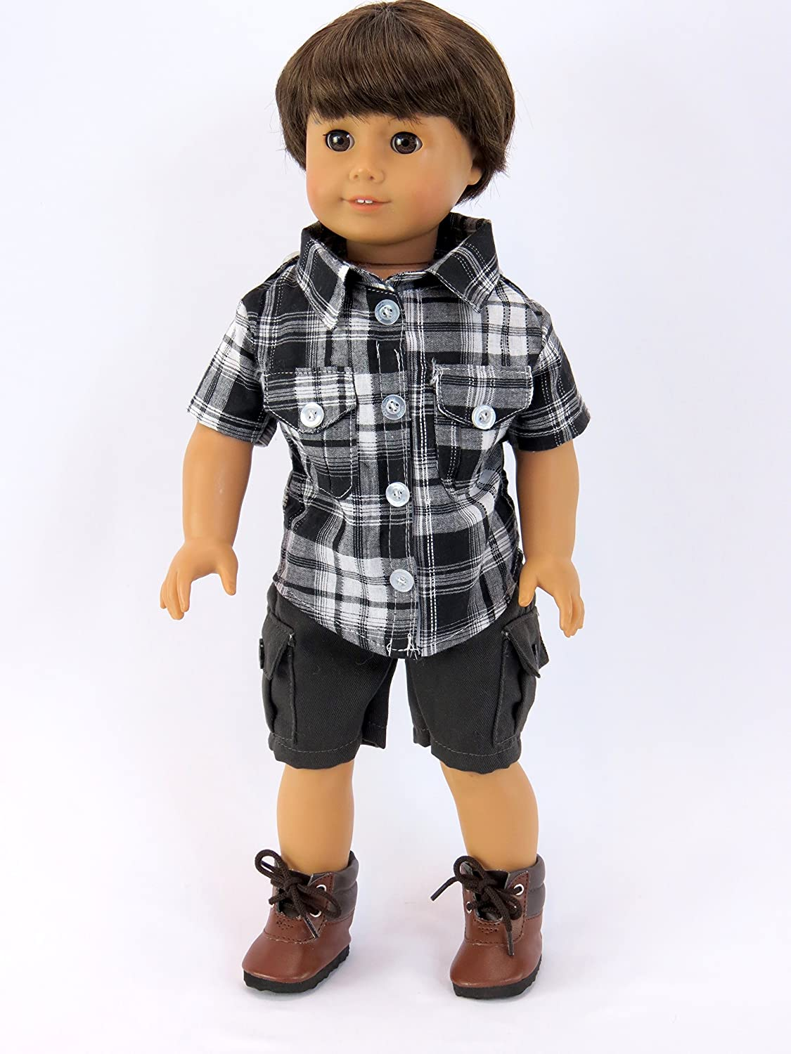 Grey and Black Boy Outfit for 18 inch Dolls American Fashion World
