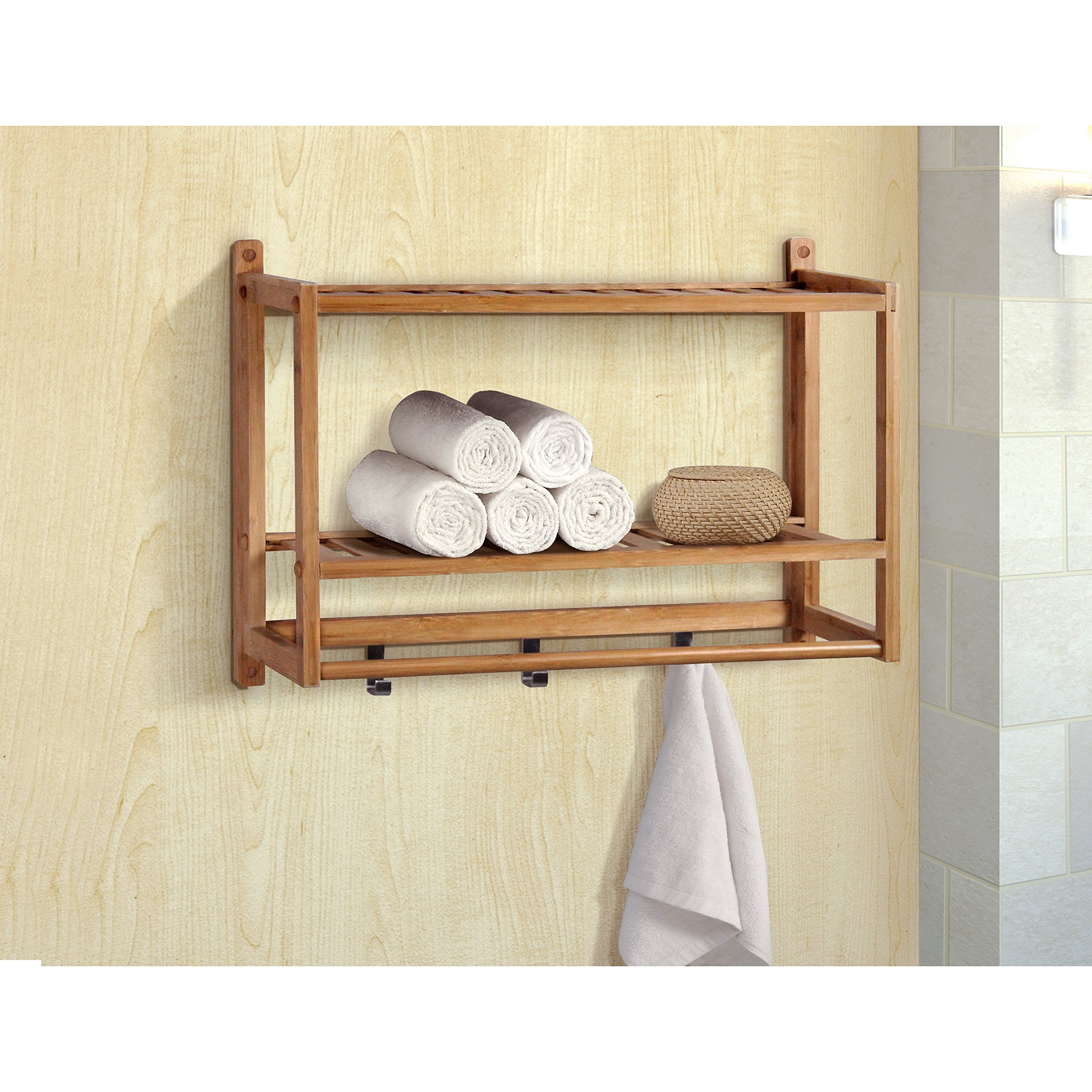 Gallerie Décor 20011-NA Spa Bamboo Wall Organizer, One Size, Natural