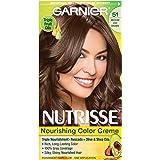 Garnier Nutrisse Nourishing Color Creme, 51 Medium Ash Brown (Cool Tea) (Packaging May Vary)