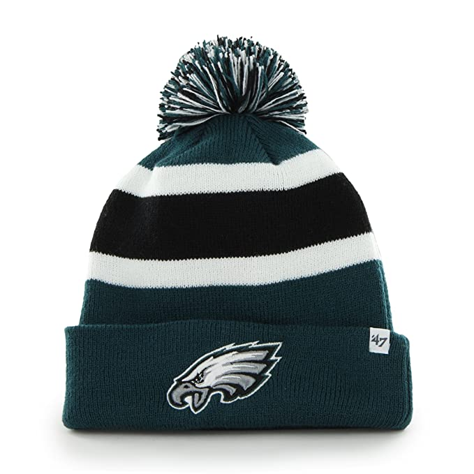 8a940f614b1641 NFL Philadelphia Eagles '47 Brand Breakaway Cuff Knit Hat with Pom, Pacific  Green,