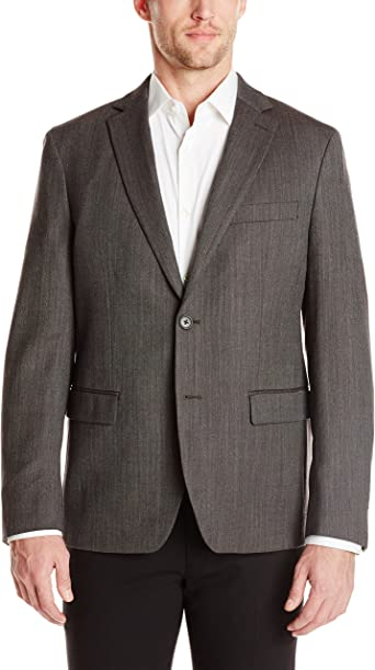 Austin Reed Men S Grey Herringbone 2 Button Sport Coat Grey 44 Long Amazon Co Uk Clothing