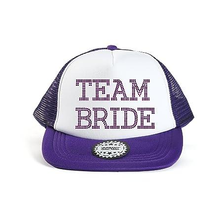 Varsany® Equipo Gorra de béisbol novia cristal novia boda Party ...