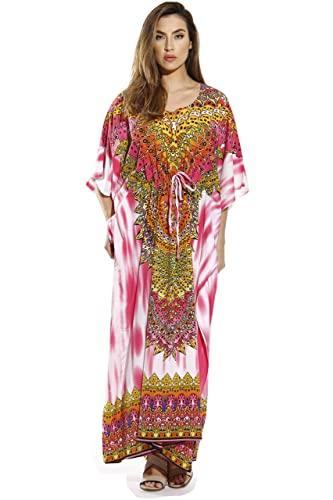 a1dd423925 Riviera Sun Maxi Length Cinch Waist Caftan Kaftans for Women at Amazon  Women's Clothing store: