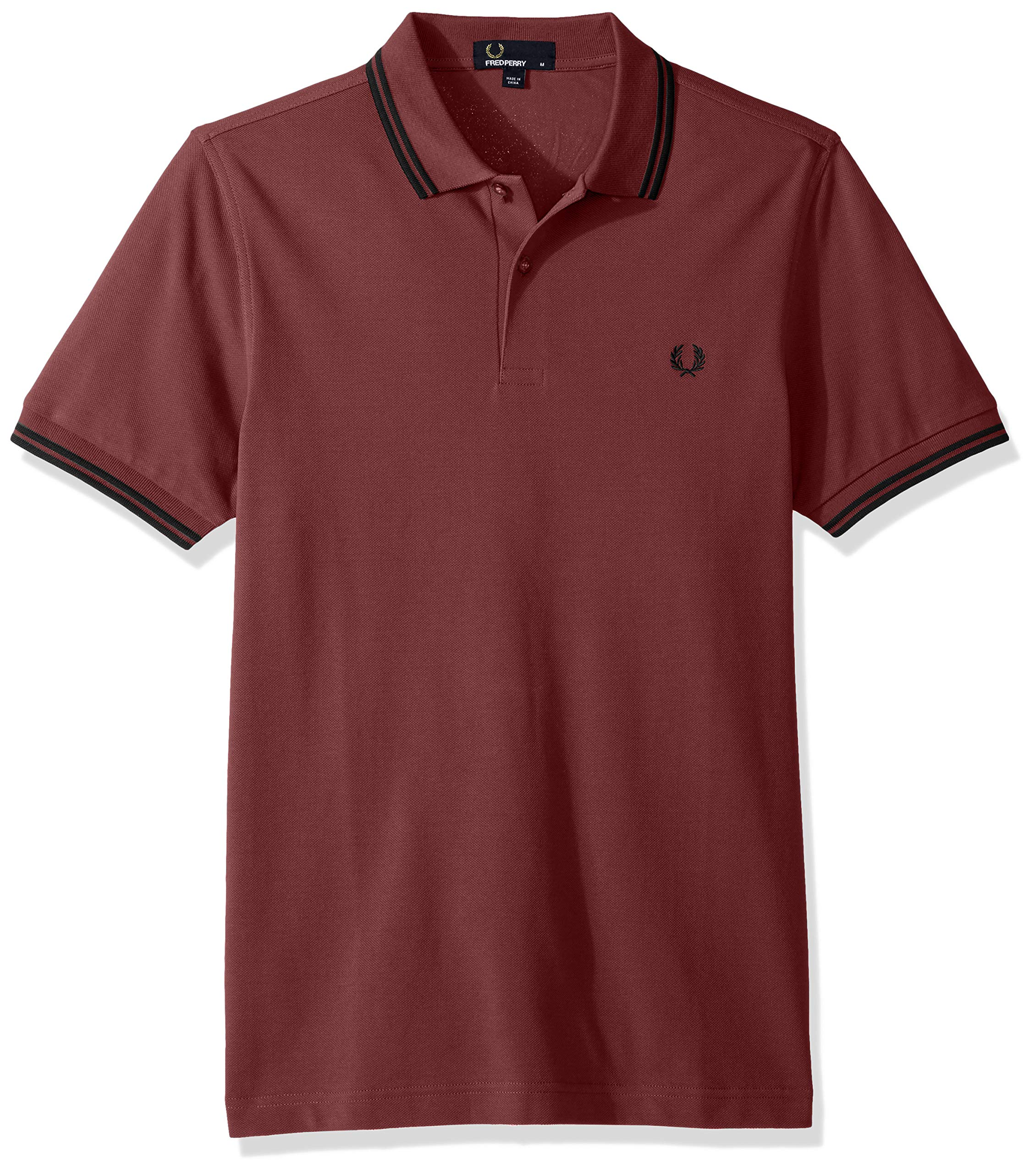 Fred Perry Men's Twin Tipped Shirt, Crushedberry/Black, X-Large by Fred Perry