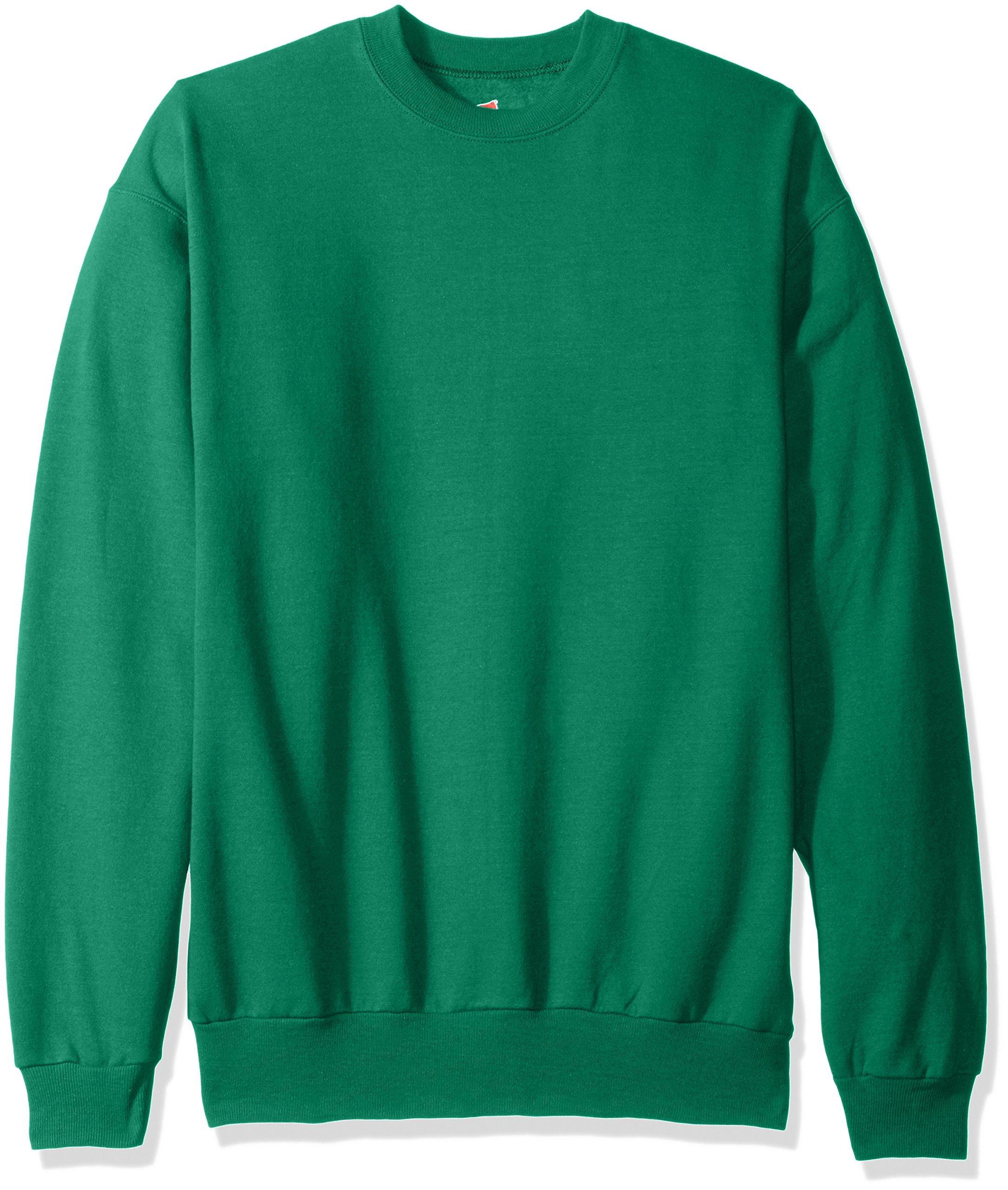 Hanes Men's EcoSmart Fleece Sweatshirt, Kelly Green, Small by Hanes