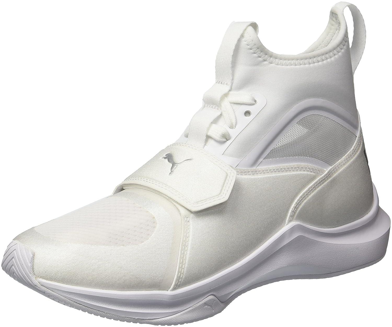 PUMA Women's Phenom Wn Sneaker B071GV34PV 7.5 B(M) US|Puma White-puma White