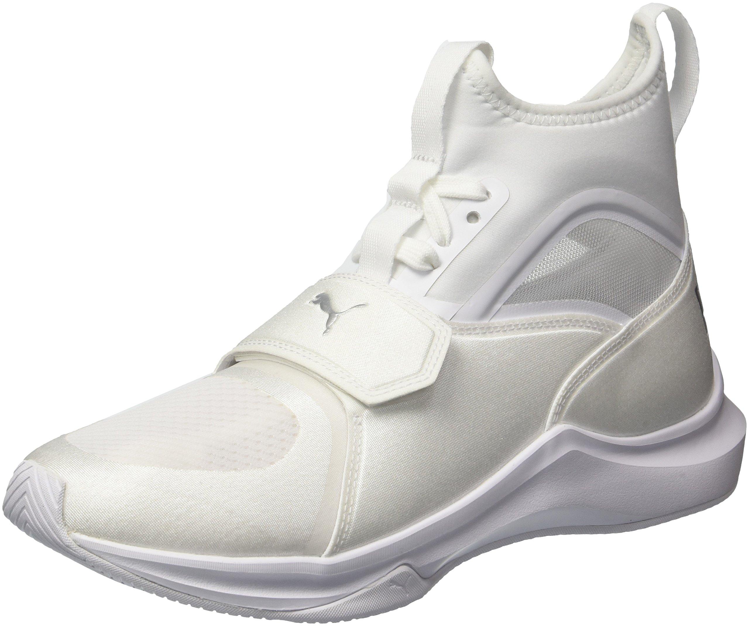 PUMA Women's Phenom Wn Sneaker, White White, 9 M US