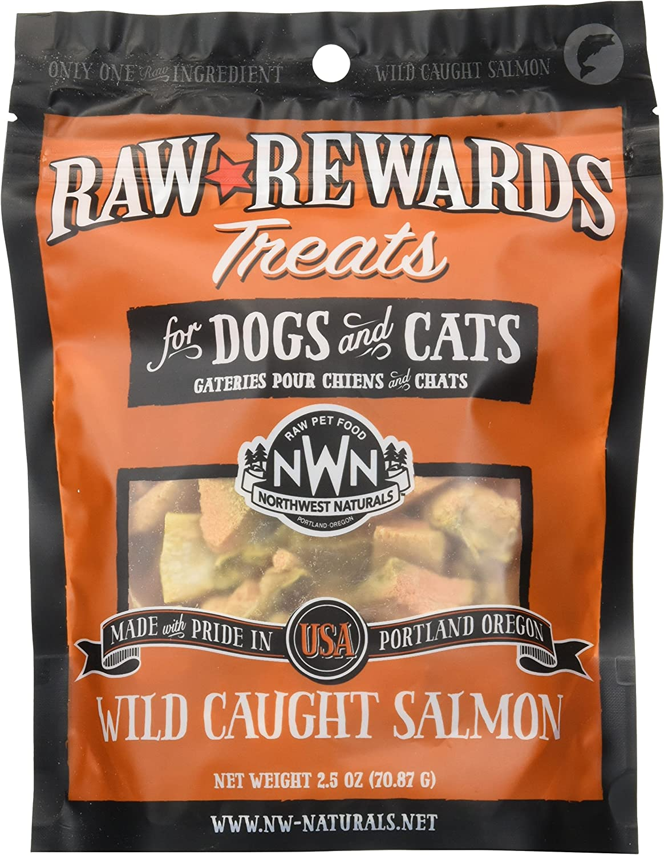 Northwest Naturals Raw Rewards Freeze Dried Salmon Treats, 2.5 Ounces