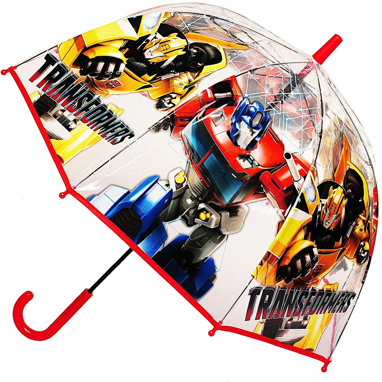 inkl gro/ß // durchsichtig /& durchscheinend Glockenschirm alles-meine.de GmbH Regenschirm transparent /Ø 70 cm Kinderschirm Transformers Bumblebee // Roboter .. Name